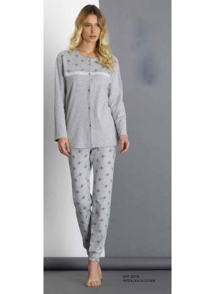 economico per lo sconto 4da5b a9487 SISTERS pigiama donna invernale aperto in caldo cotone