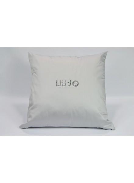 LIU-JO cuscino arredo in rasatello di cotone 60x60 con logo in swarovski  art. TELLARO 51dc534e0dd