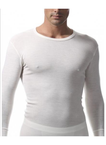 design senza tempo 086f4 2c3c3 RAGNO maglia uomo m/l girocollo 100% lana merino art 060039