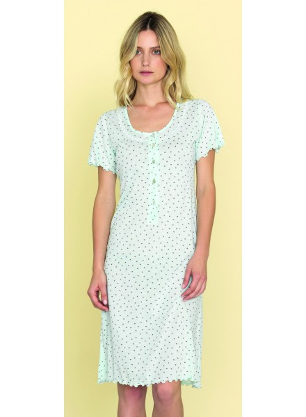 rivenditore di vendita 0d4a5 ccb79 SISTERS camicia da notte mezza manica apertura con bottoni art. 812256