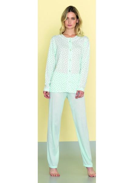 design di qualità df611 83682 SISTERS pigiama donna estivo manica lunga in morbido cotone aperto davanti  art. 812255