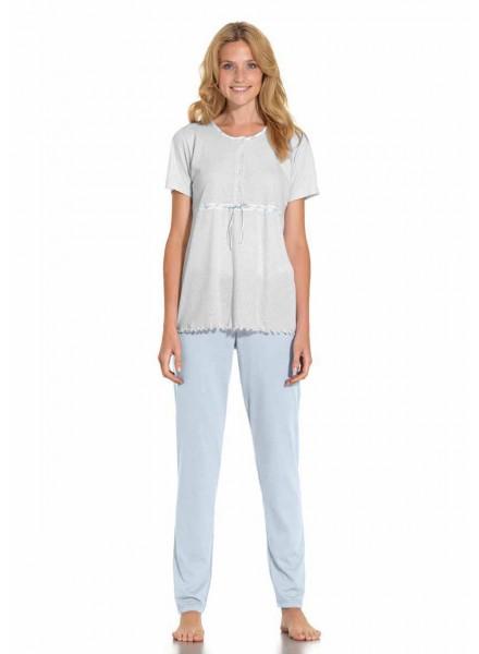 miglior servizio 3ab67 c9234 SISTER-pigiama-donna-estivo-tre-pezzi-manica-corta-pantalone-lungo-e-corto-modello-serafino-in-morbido-cotone-art-711970
