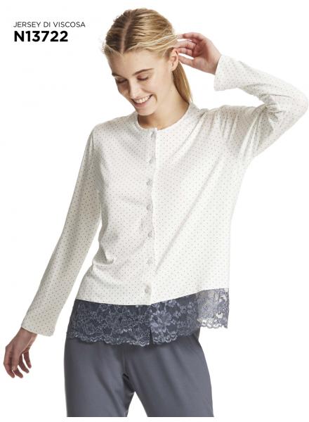 nuovi stili 5a67f 1b76b Pigiama donna invernale in jersey di viscosa RAGNO