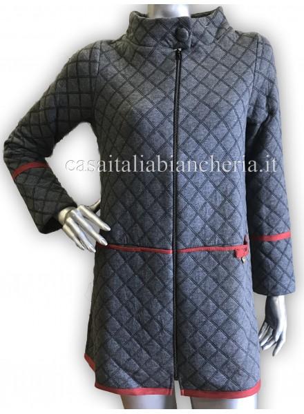half off ff8ce b8109 PEPITA giacca da camera invernale donna aperta con cerniera art HARLEM
