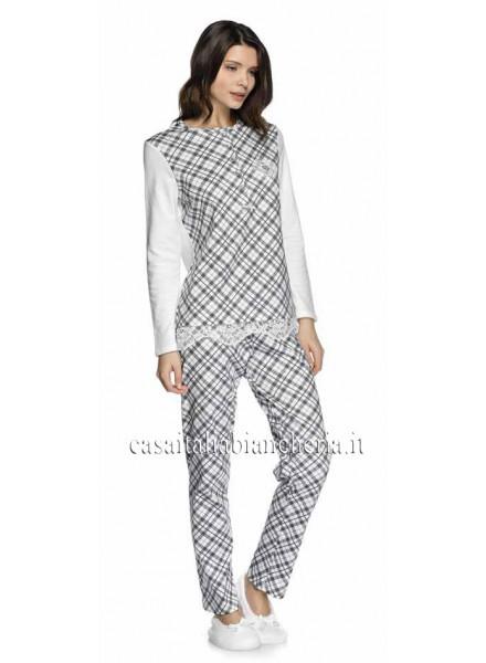 5efcb9376b6af LIU-JO pigiama donna invernale con 5 bottoni in caldo cotone art LONDON