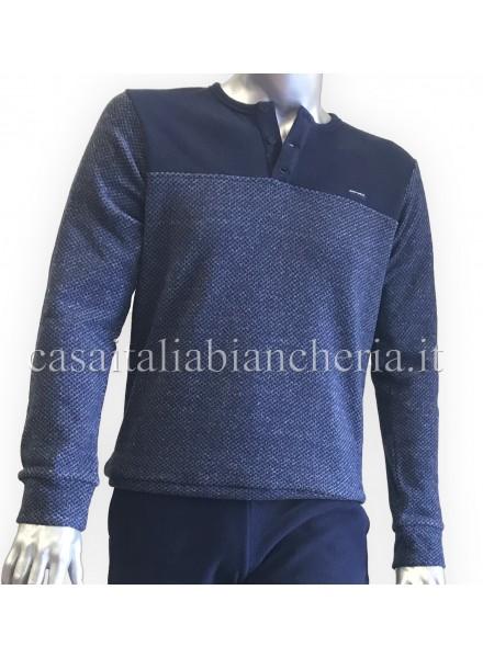 719300e55f PEROFIL pigiama uomo invernale modello serafino in caldo cotone art ...